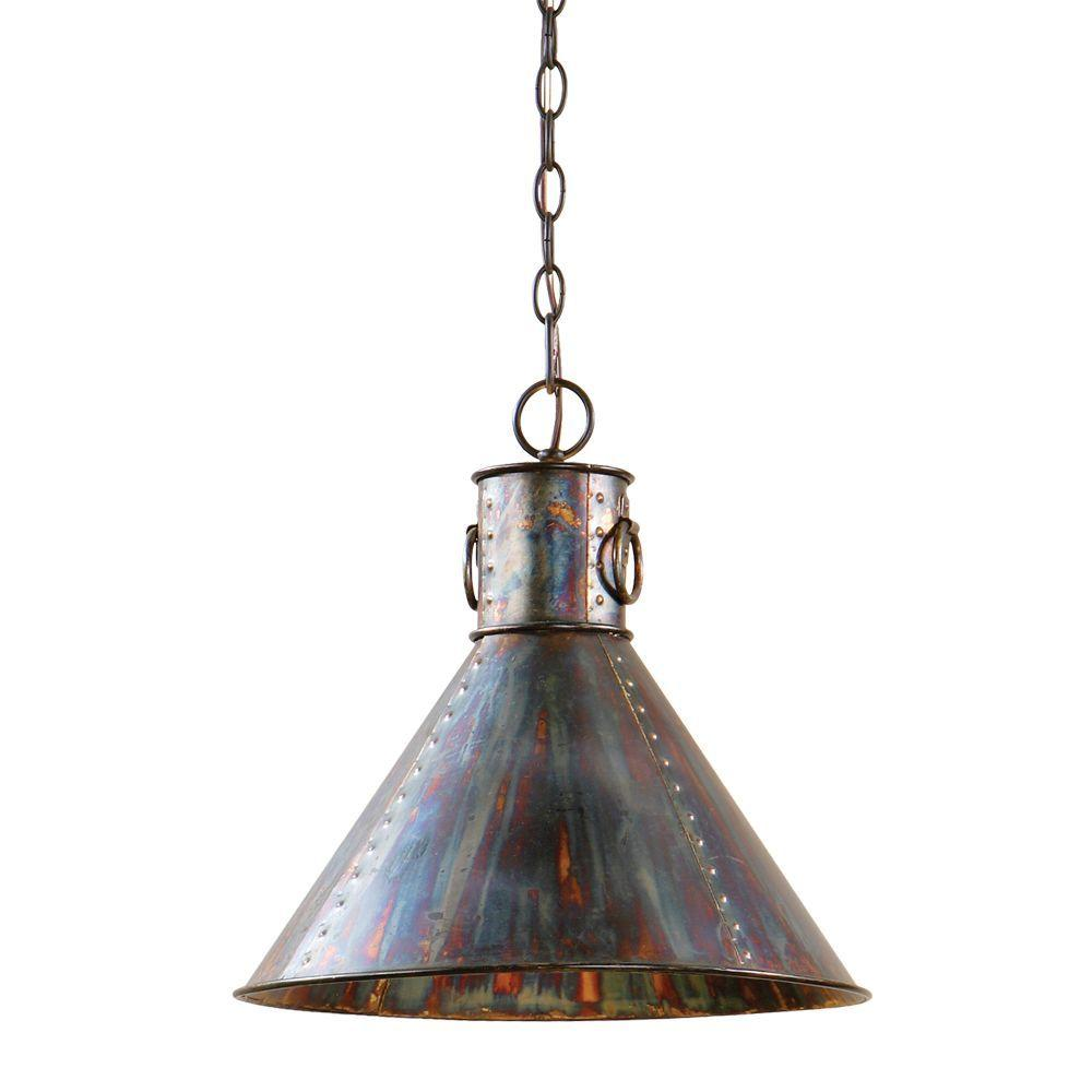 Global Direct 1 Light Oxidized Bronze Pendant