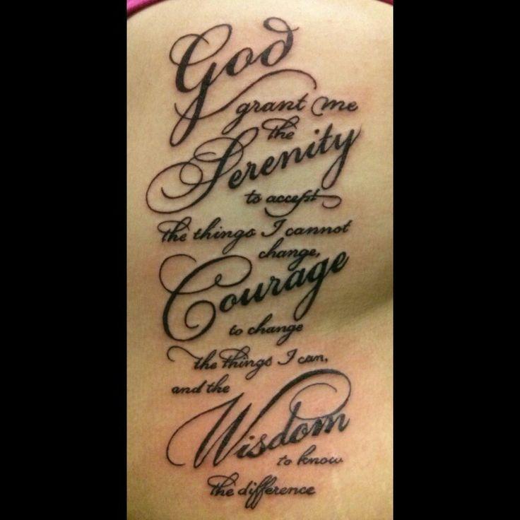 Shoulder Tattoo Quote Ribcage Serenity Prayer: 50 Serenity Prayer Tattoo Designs