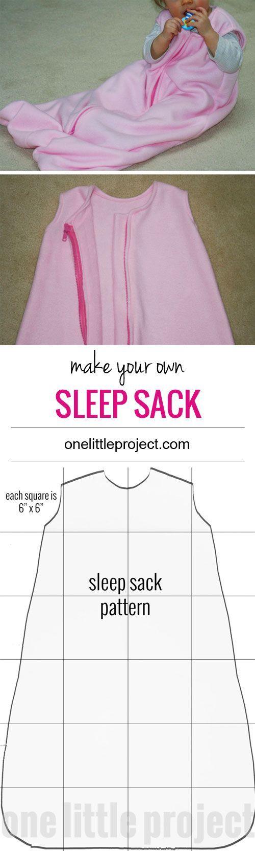 Make your own sleep sack | Bebé, Bebe y Costura