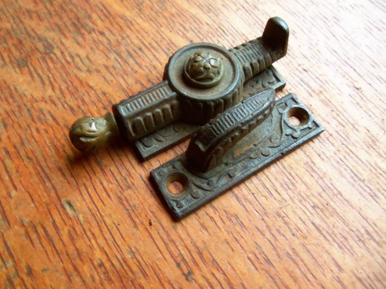 Antique Victorian Spring Loaded Window Sash Lock Pat 1869 Sash Lock Sash Windows Large House Plans