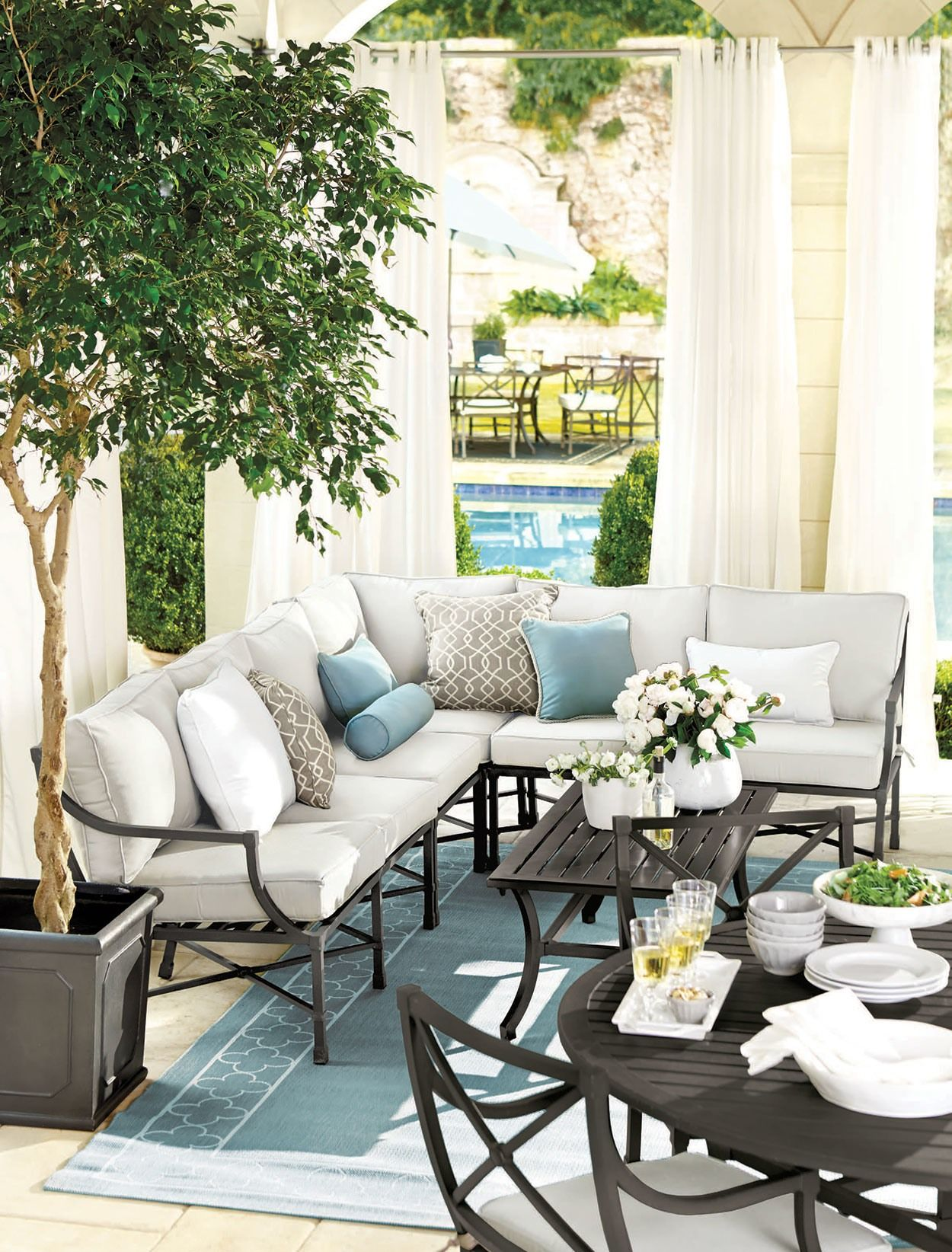 Outdoor Spaces Decorating Ideas Porch Furniture Outdoor Rooms
