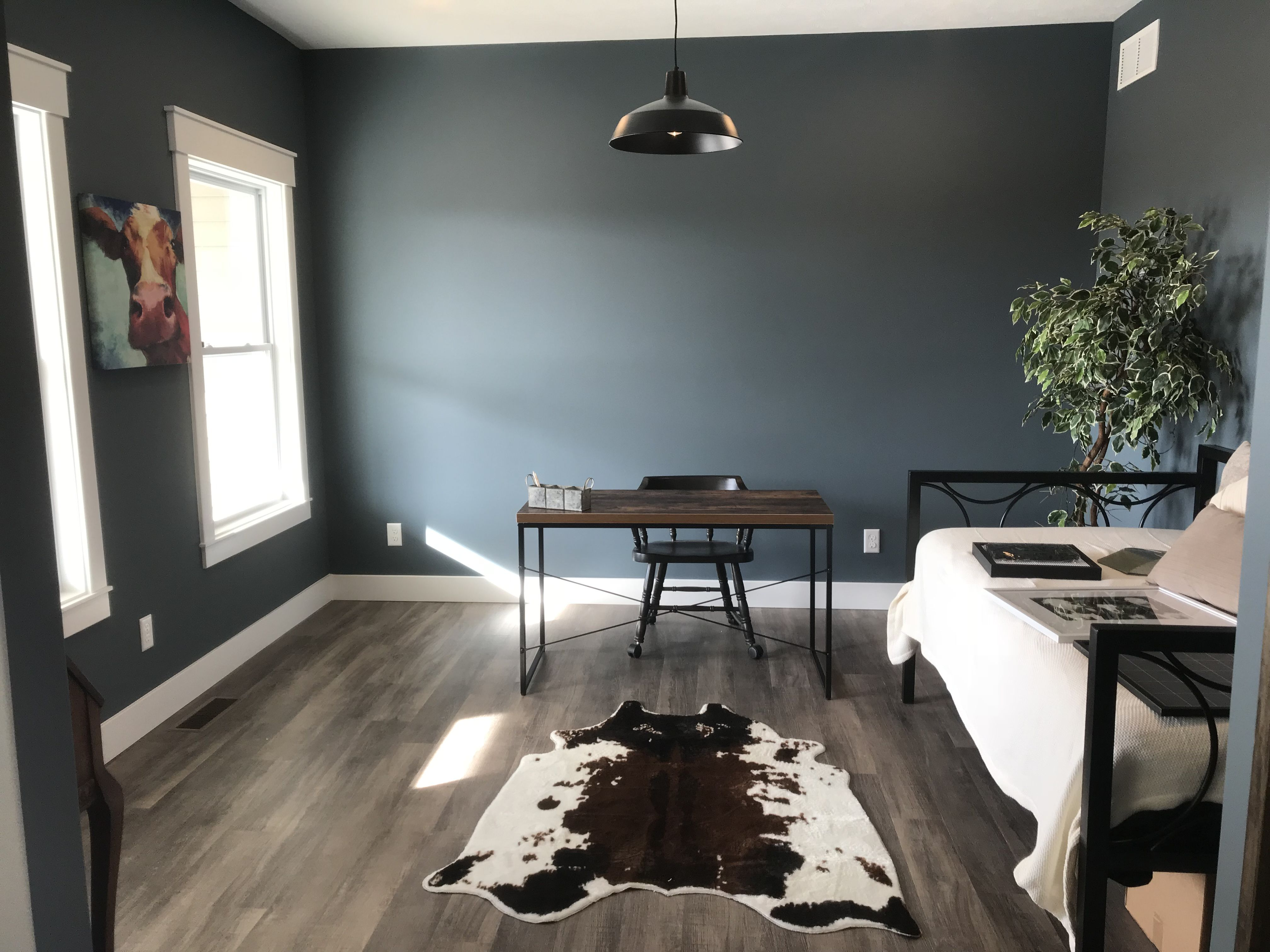 sherwin williams slate tile is my favorite color in this on blue office color id=24539