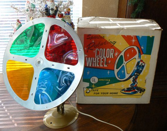 vintage 50s 60s spartus motorized rotating color by krausehaus - Rotating Color Wheel For Christmas Tree