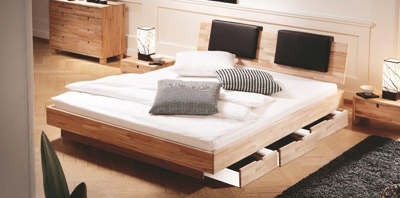 Massivholz Wasserbett Varus Mitkopfteil Und Schubladen Podest Online Kaufen Holzbetten Wasserbett Massivholzbett