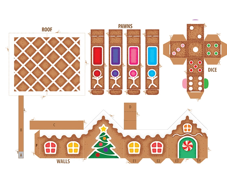 Printables Gingerbread House Pop Up Boardgame Hp Official Site Gingerbread House Pop Up Card Templates