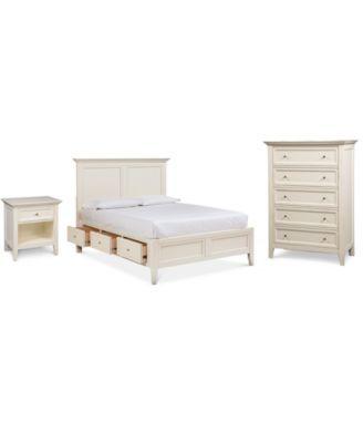 Furniture Sanibel Storage Bedroom Furniture, 3-Pc. Set ...