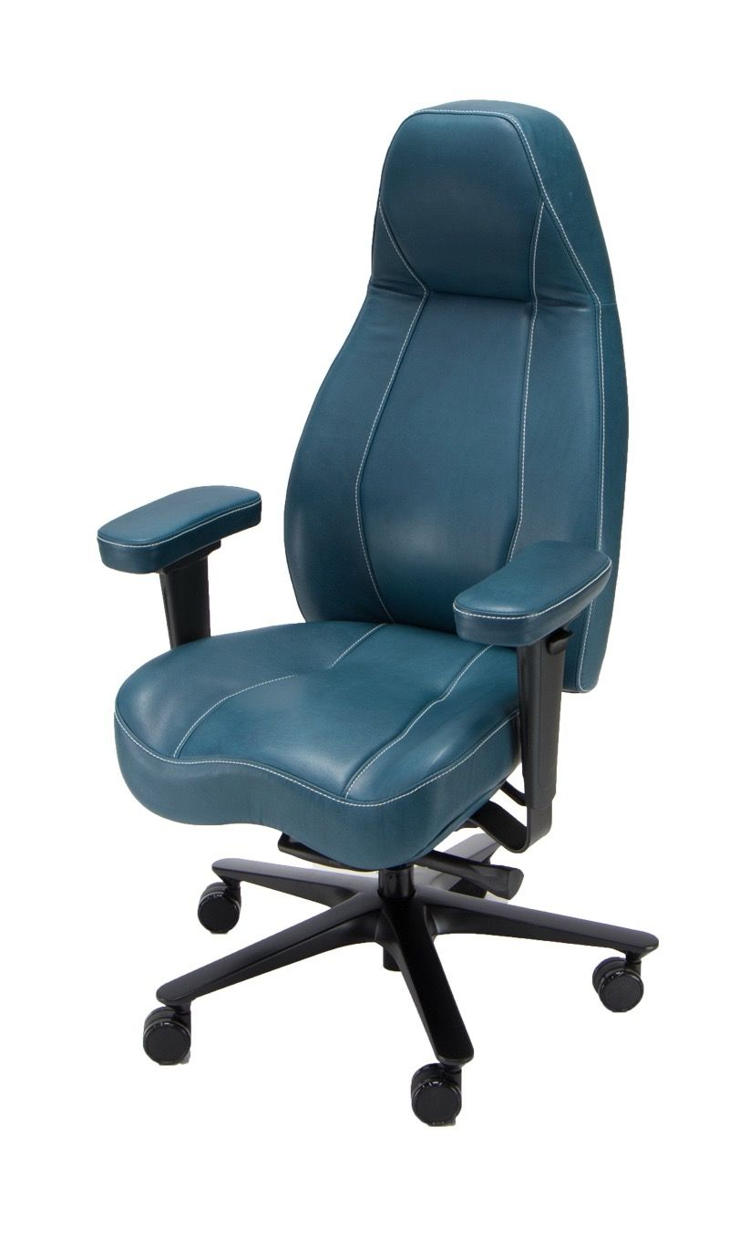 Lifeform Legacy Executive Chair Premium Leather With Contrast Sching Detail Customizable Made To