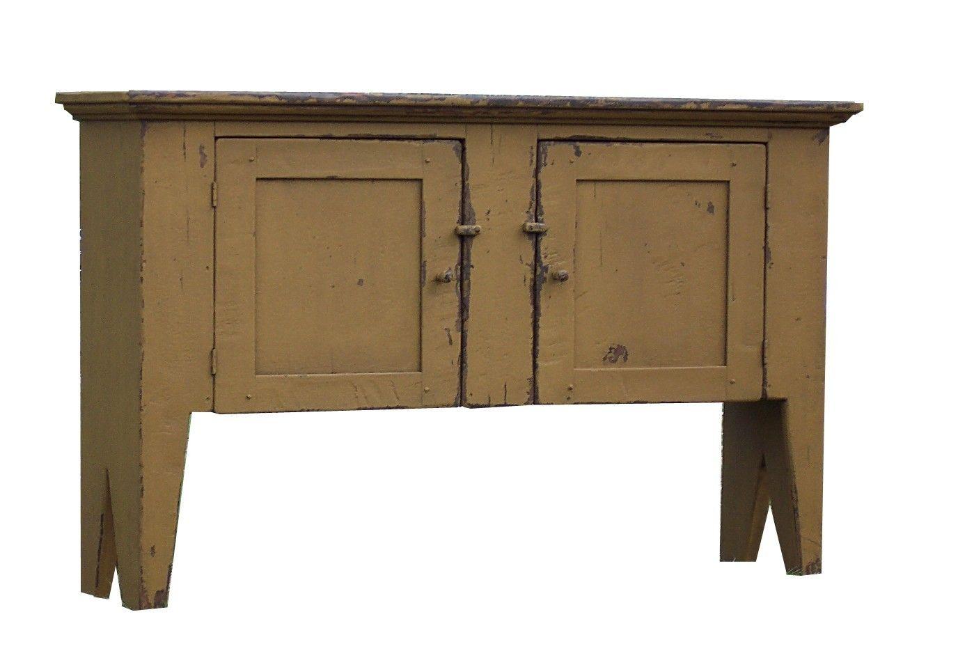 Elegant Primitive Furniture   Primitive Country Huntboard Sideboard Sofa Hall Table  Farmhouse .