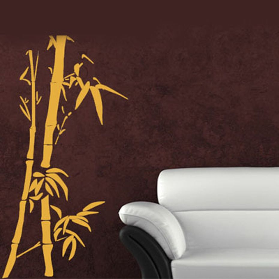 Chinese wall art bamboo wall sticker customized living room decor