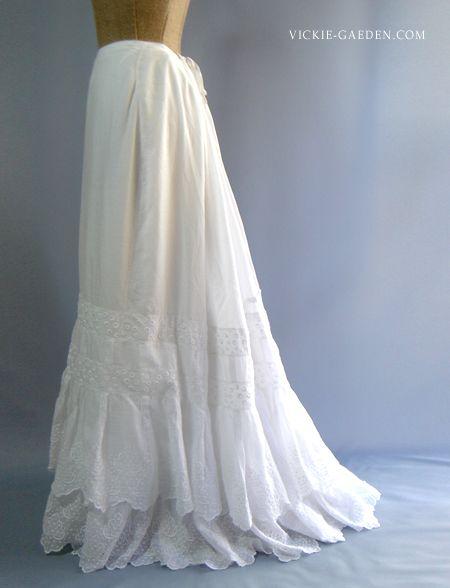 Antique Victoria Era  Long Petticoat
