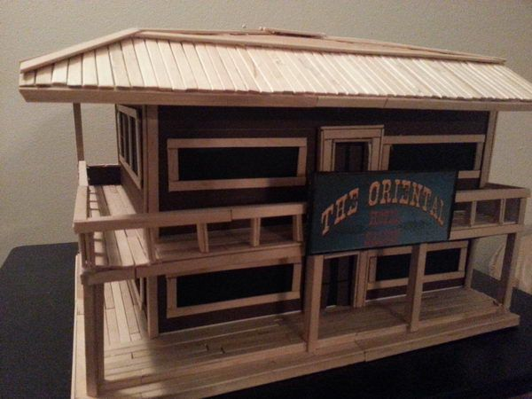 15 Homemade Popsicle Stick House Designs | Stick crafts, Popsicle ...