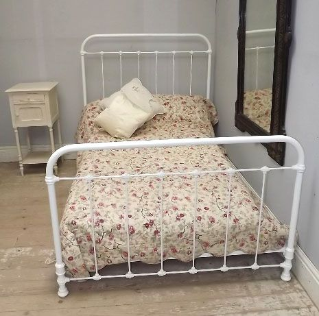 Iron Beds Antique Headboards Superb 4ft Bed C1900
