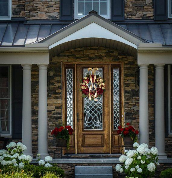 Beautiful Wreaths Blended Hydrangea Wreath By HomeHearthGarden.Etsy.Com # Wreath #front Door