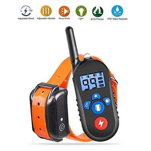 Dog Training Collar, Dog Shock Collar with Remote 2500ft