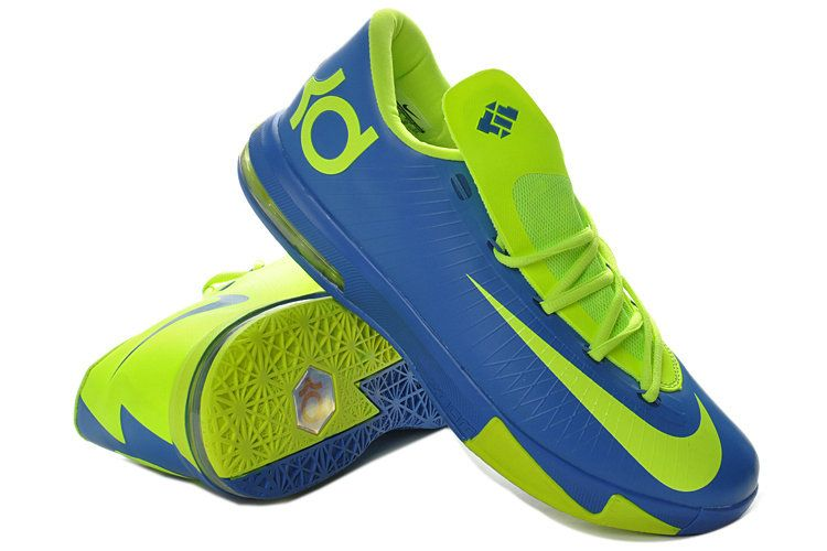 best website 92546 e66d3 Womens 2018 Discount KD VI Hyper Blue Lime Green Volt