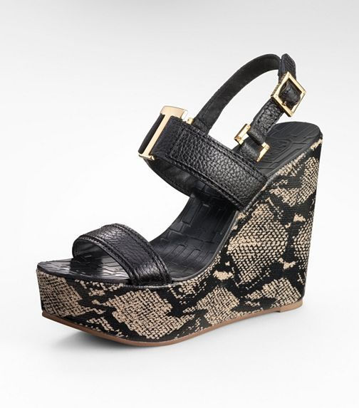 tory burch-- angeline SNAKE HIGH WEDGE