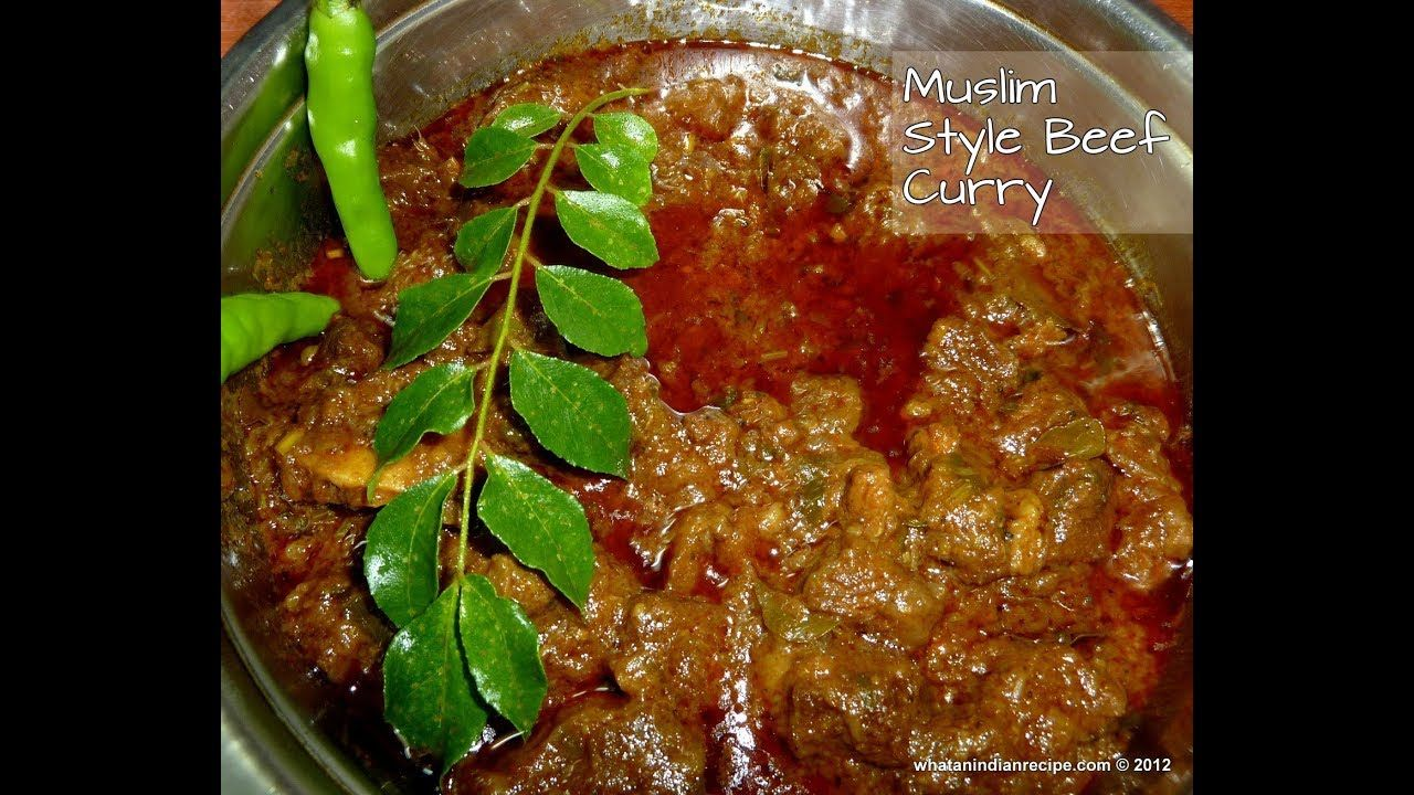 Muslim Style Beef Curry Recipe Youtube Beef Curry Recipe
