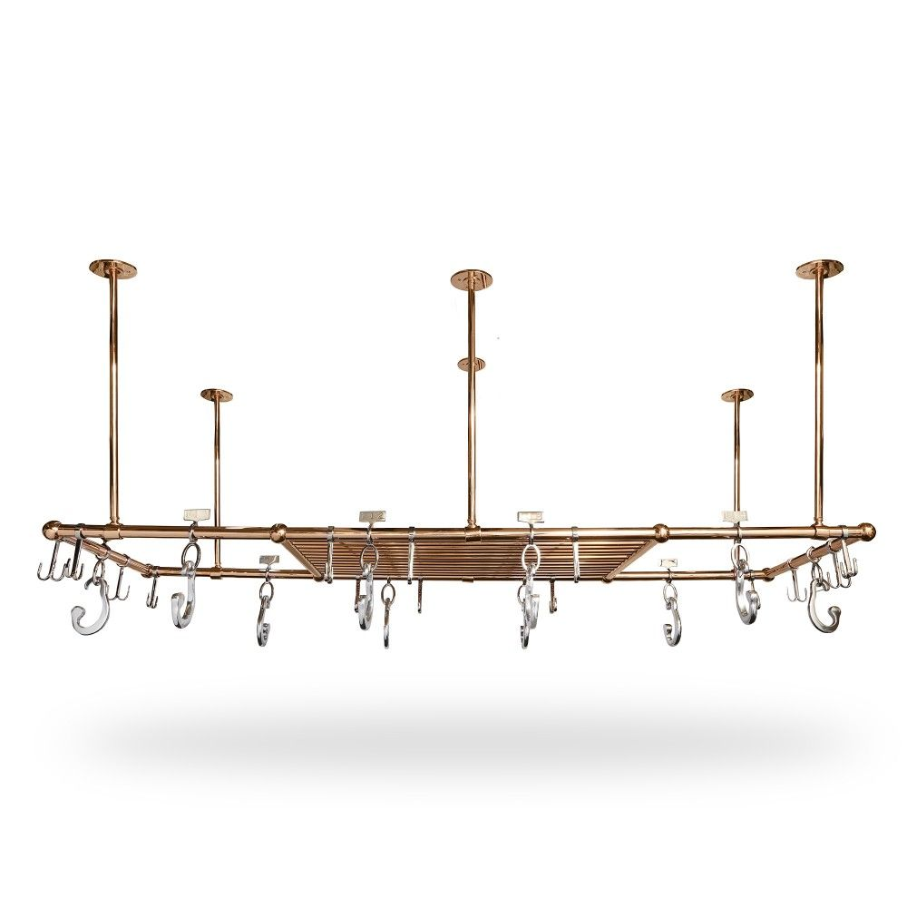 A-M Pot Rack with Shelf | Pot rack, Custom lighting ...