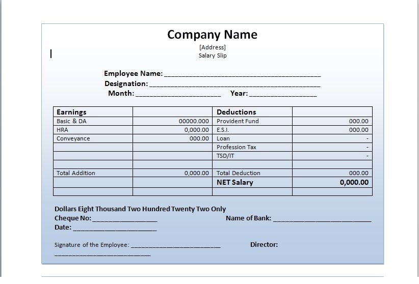 Salary Slip Template Come In Handy If You Are In Charge Of Giving Salaries To Your Employee These Templates Make The Life Easier Salary Payroll Template Slip