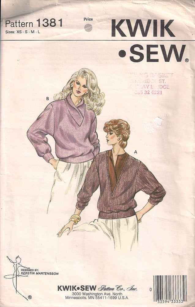 Kwik Sew 1381 Sewing pattern, uncut dressmaking pattern, loose ...