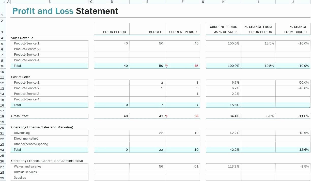 P And L Statement Template Elegant Template P And L Statement Template Statement Template Profit And Loss Statement Spreadsheet Template P and l sheet template