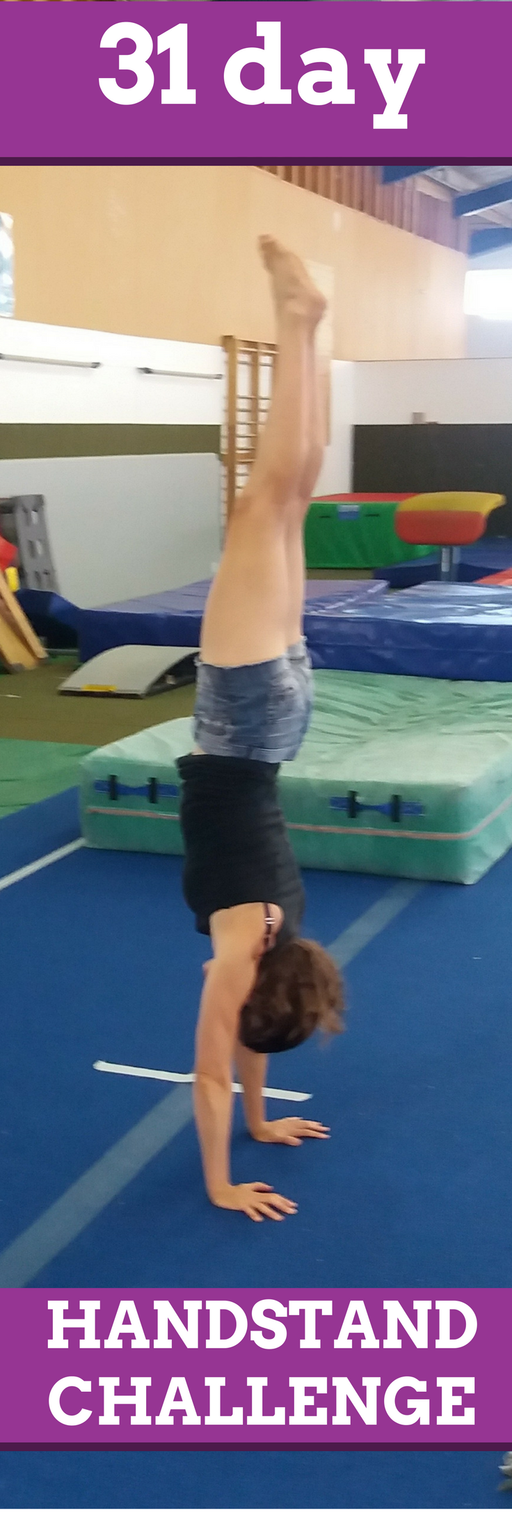 30 day gymnastics bodies handstand challenge. Check out this video for different ideas on how you ca...