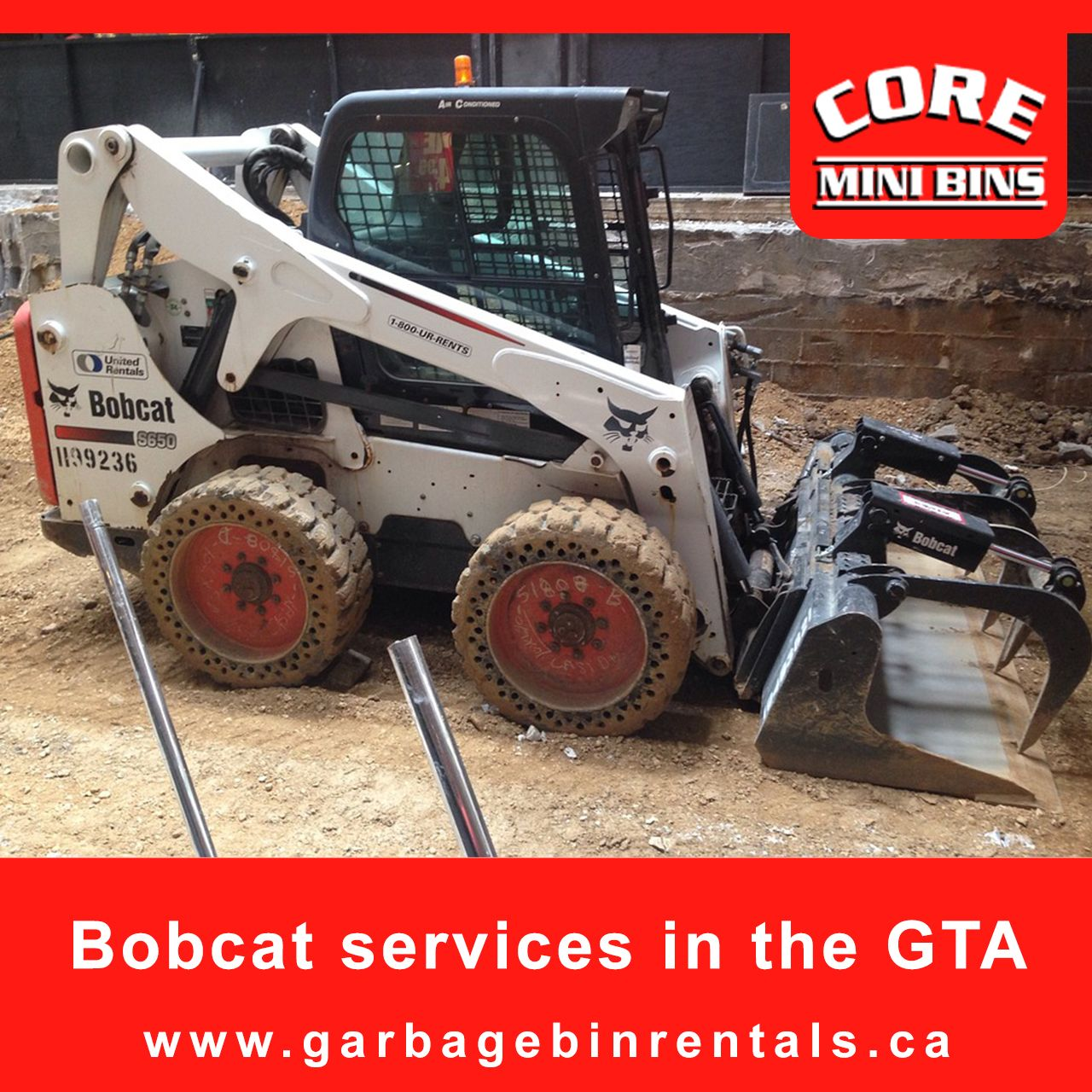 With the Bobcat, many complex tasks can be completed with