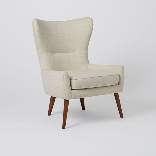 Erik Upholstered Wing Chair Con Imagenes Mobiliario Muebles
