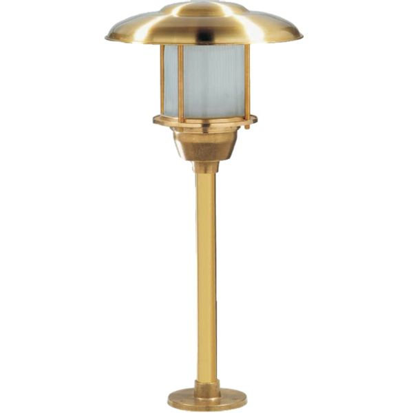 Tuscanor industrial style cast bronze pathway light tus23 industrial style pathway light diameter height max wattage 1 x ip rating finish brass die cast exterior lighting from allen international lighting mozeypictures Images