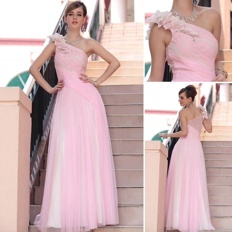 Woman's Junoesque Cocktail Prom Ball Gown Evening Dress Formal Dress Code Pink