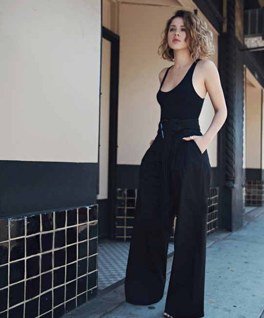 f66f0c5c9c black bodysuit with black wide leg pants