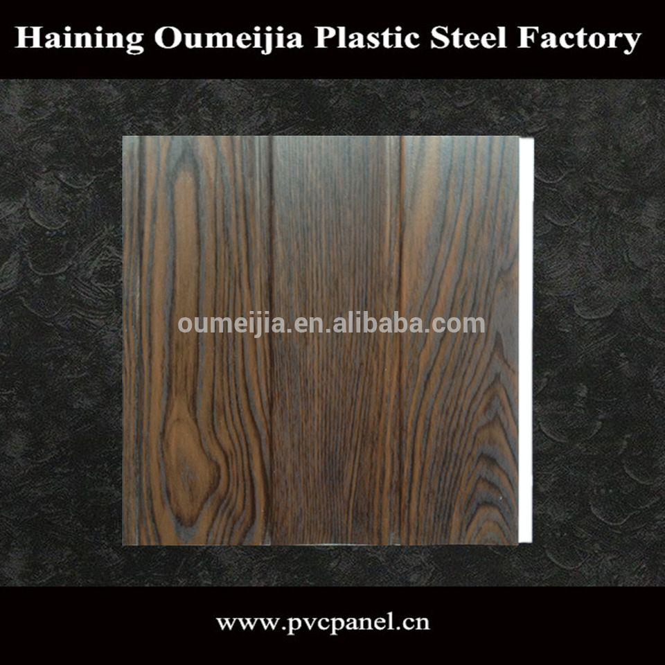 2017 Waterproof excellent lamination two groove pvc panel