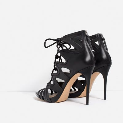 LACE-UP LEATHER SANDALS-SHOES-WOMAN-COLLECTION AW16 | ZARA United States