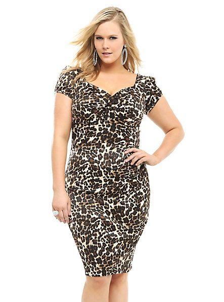 Stop Staring! - Leopard Billion Dollar Baby Dress | Torrid