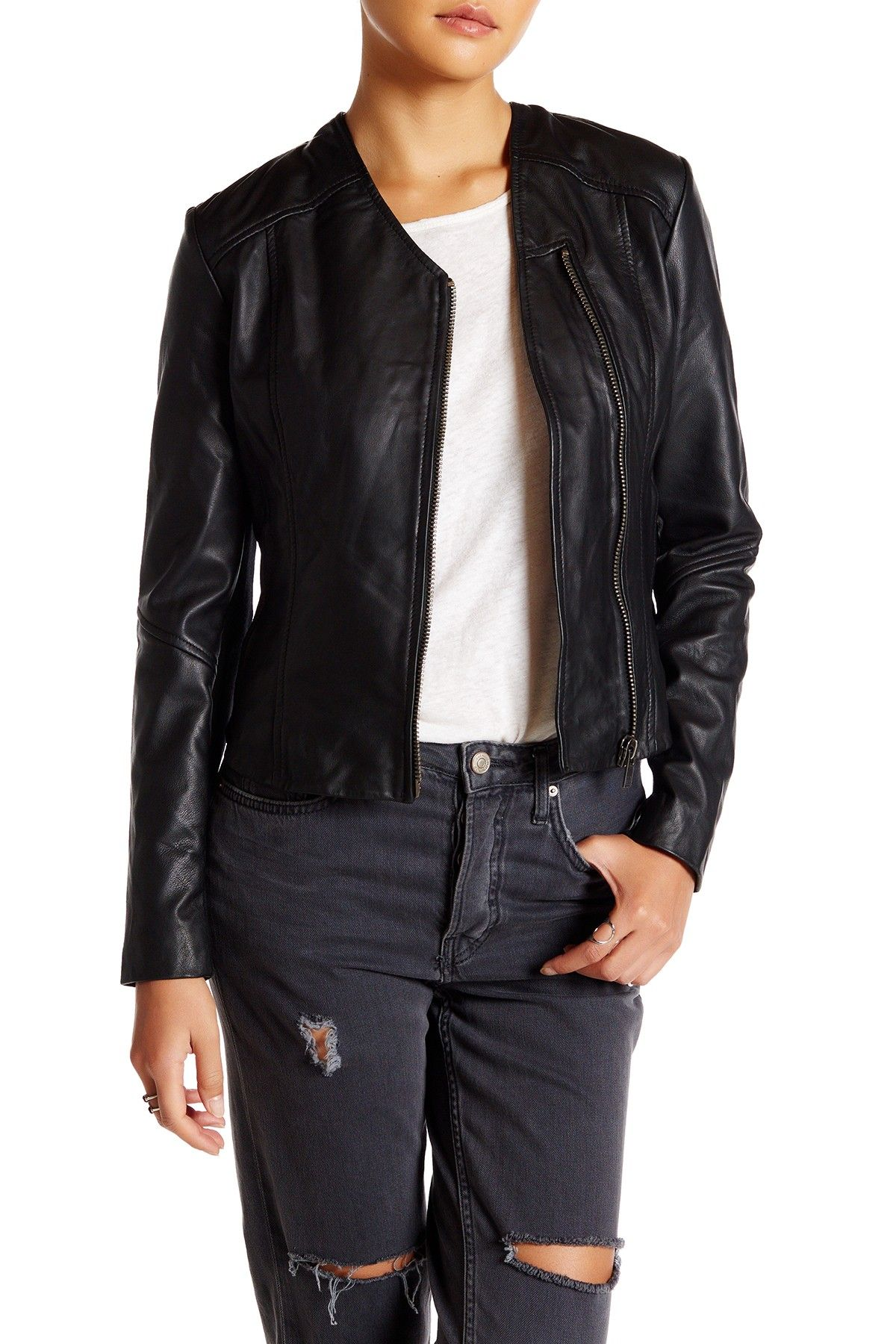 W118 by Walter Baker Kimberly Leather Jacket Fashion