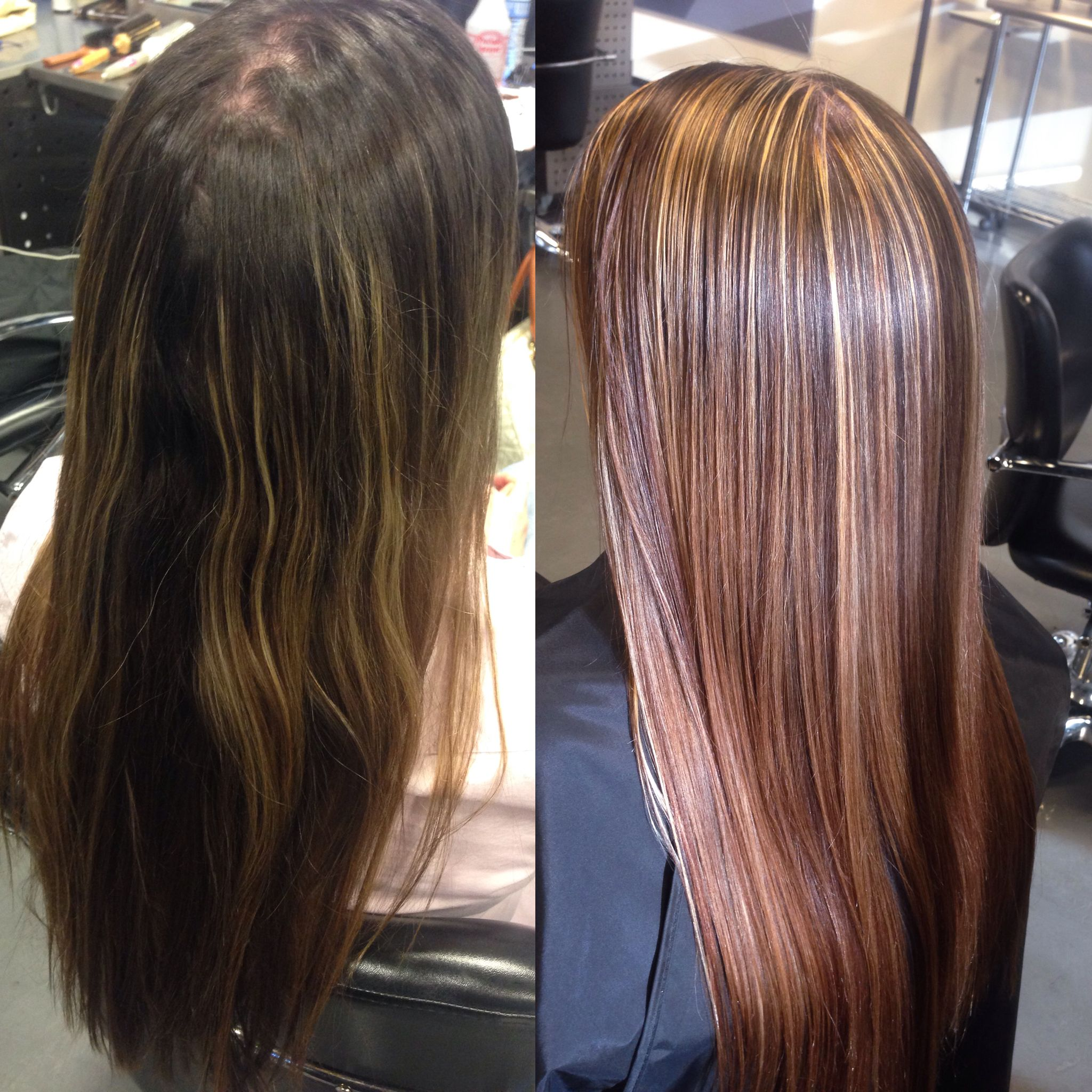 Before and after blonde highlights and brown lowlights with a before and after blonde highlights and brown lowlights with a small tint of red instagram pmusecretfo Images