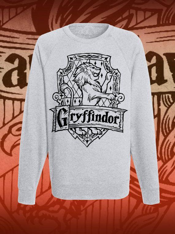 Raglan grey Gryffindor classic hogwarts di DaiquisCraftRoom