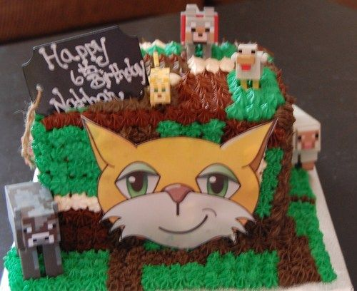 mindcraft birthday Mindcraft Stampy Cat themed Happy ...