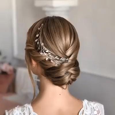 Hermoso cabello de novia