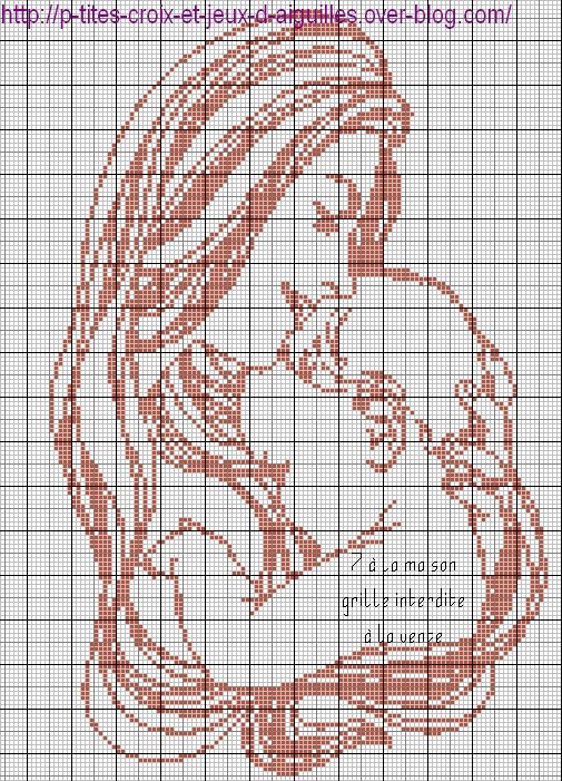 Grille gratuite le blog de 7 la maison point de croix tricot grilles gratuites amore - Point de croix grilles gratuites ...