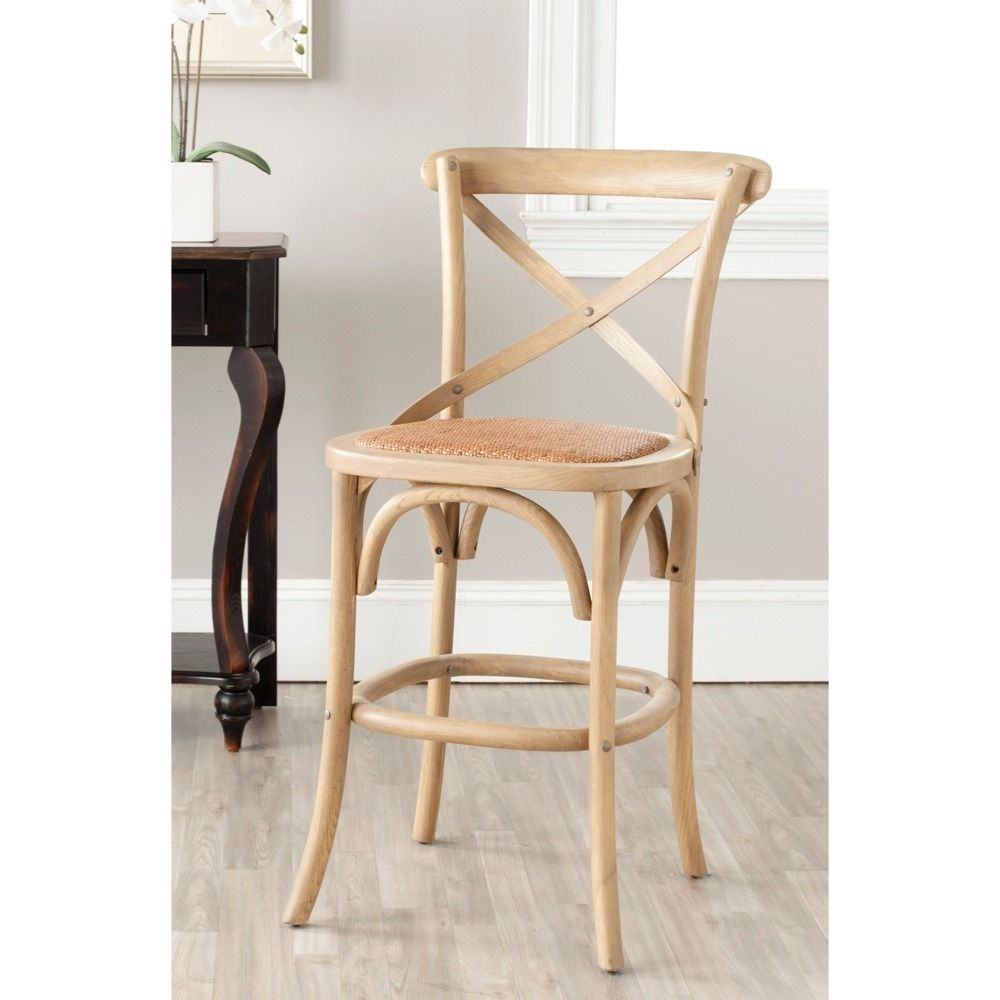 with its willowy frame and iconic crossback the franklin counter stool by safavieh