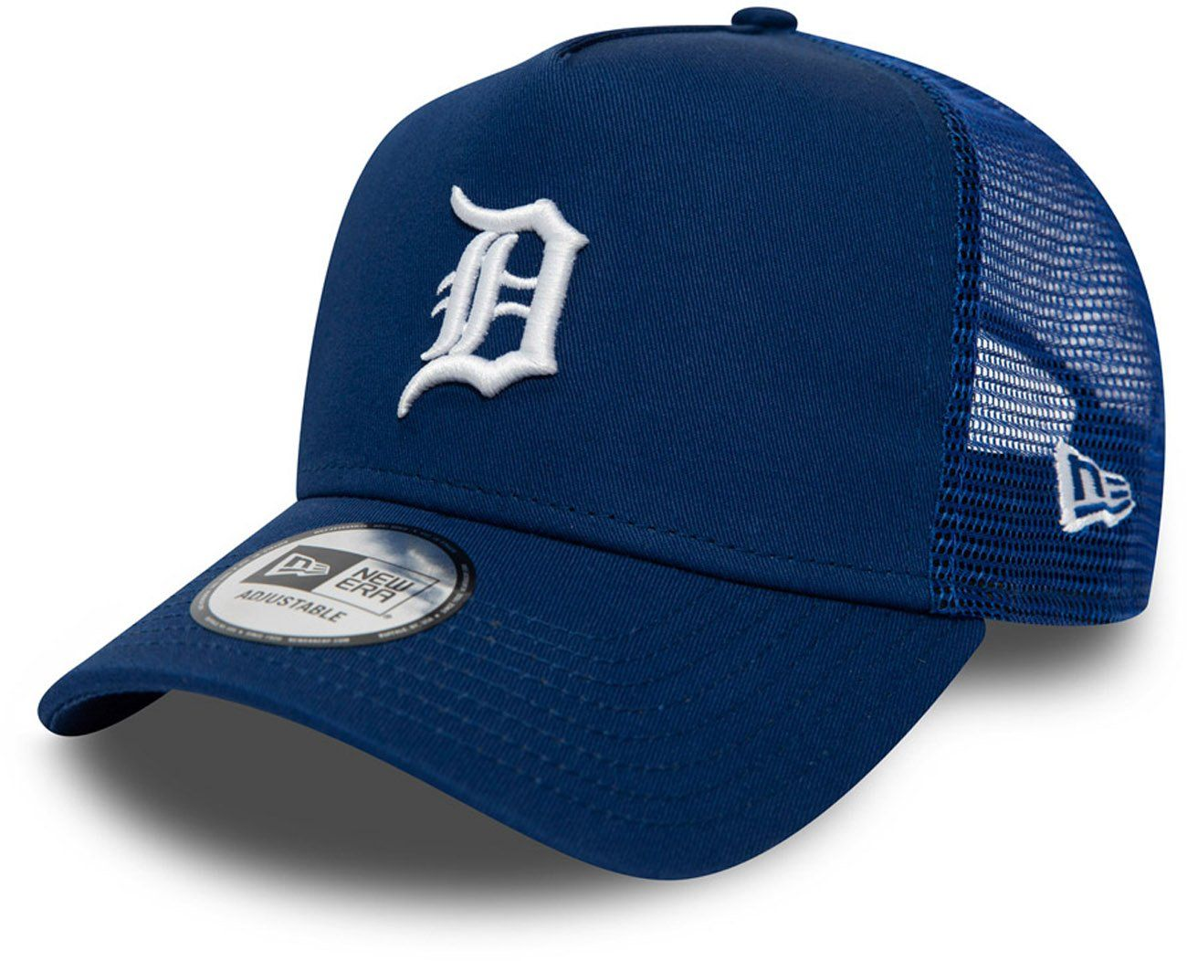 Detroit tigers new era league essential blue trucker cap