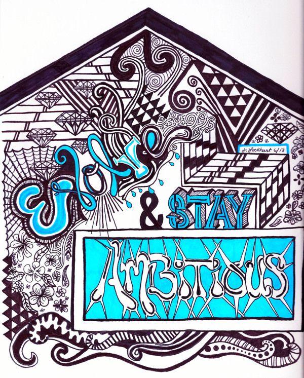 Evolve & Stay Ambitious by Jill Lockhart, via Behance
