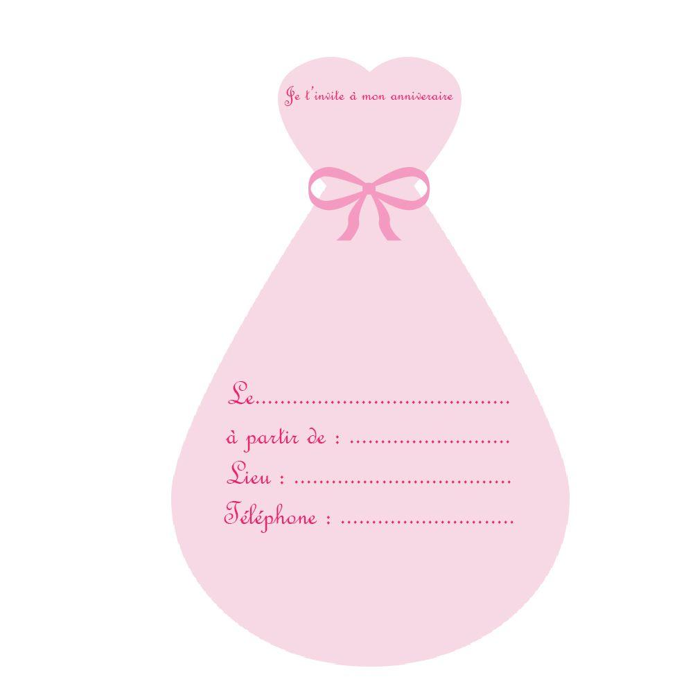 Invitations Anniversaire Princesse Gratuites A Imprimer
