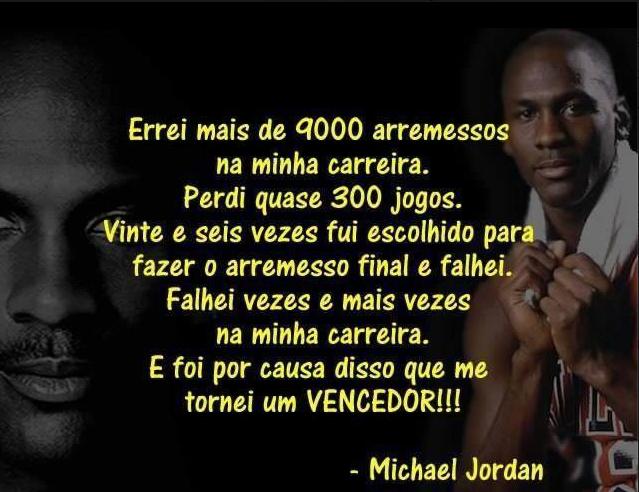 Frase De Motivação De Michael Jordan Frases Motivacionais