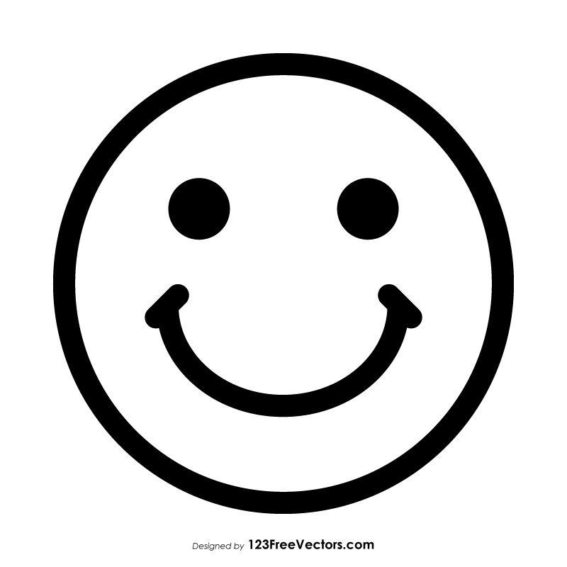 Smiley Face Emoji Outline Outline Pictures Face Outline Smiley Face