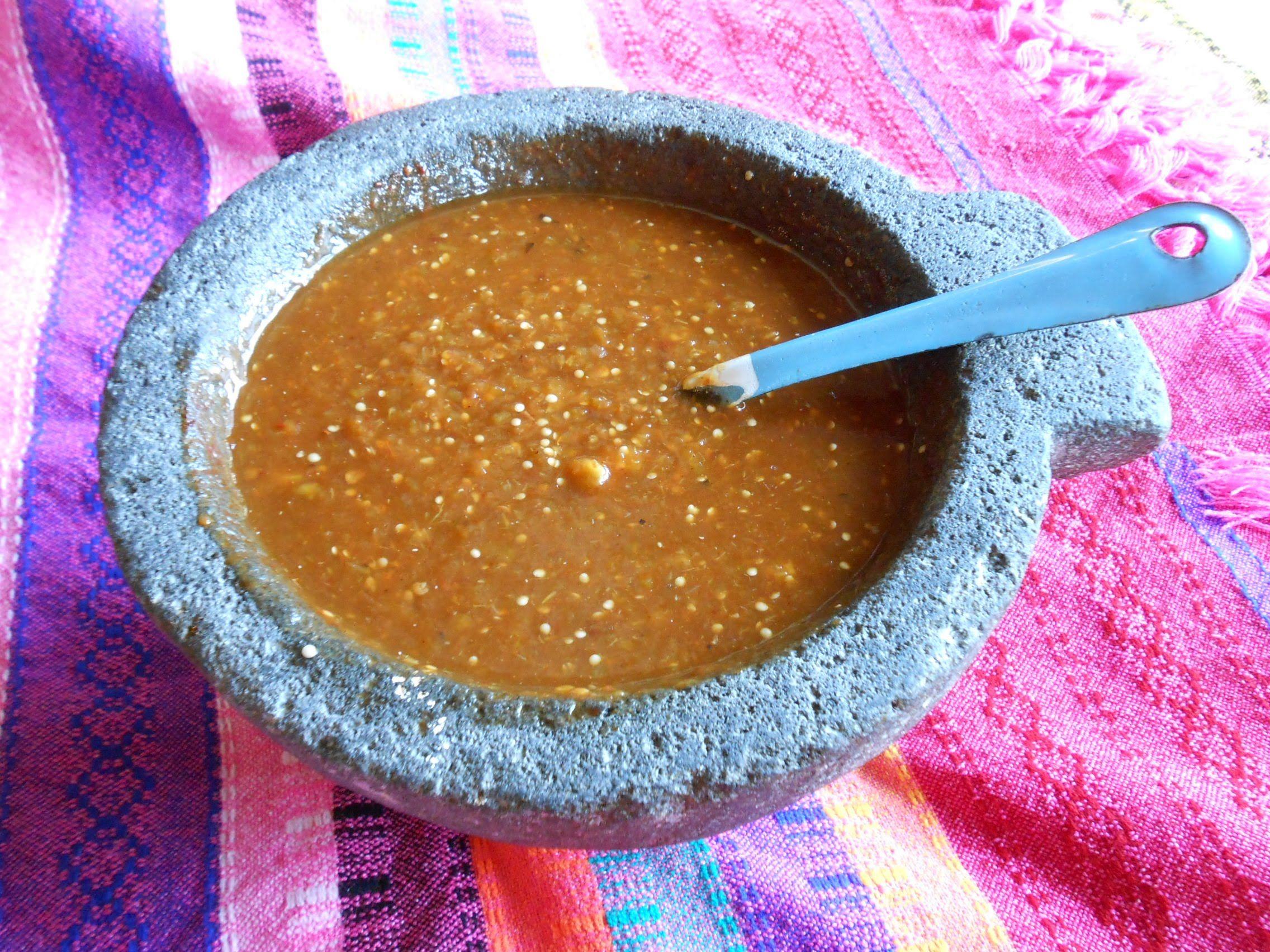 Salsa De Chile Morita Y Chile De Arbol Al Molcajete Receta De Salsa De La Cocina Mexicana J Salsa De Chile Morita Salsa De Chile Recetas De Cocina Mexicana