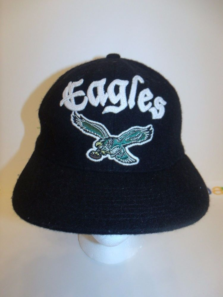 Philadelphia Eagles Reebok NFL Vintage Collection Fitted Flexfit Hat Sz S M   Reebok  BaseballCap  PhiladelphiaEagles beb312906