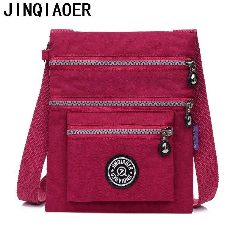 Women Messenger Bags Waterproof Nylon Crossbody Bags For Women ...