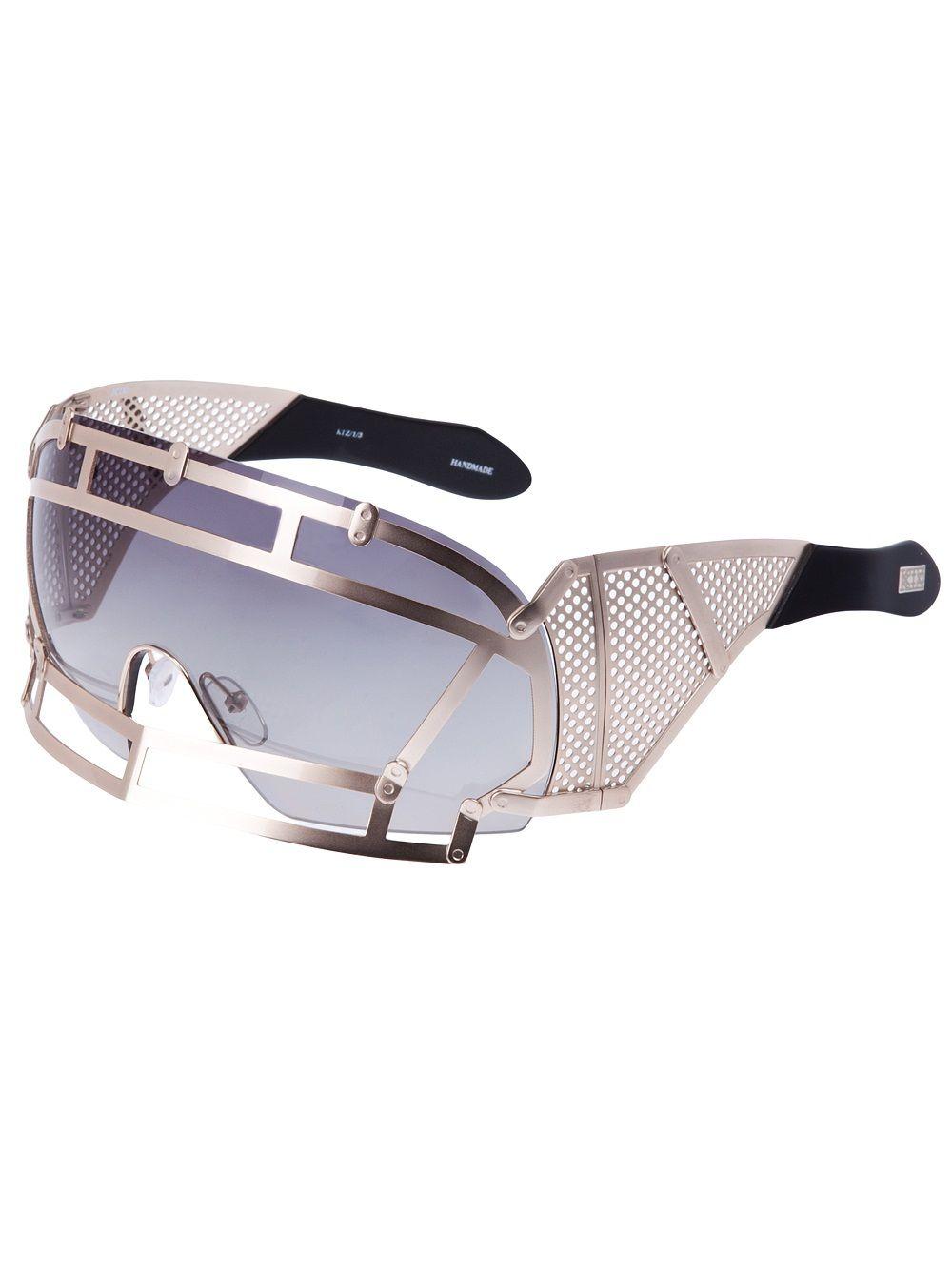 Linda Farrow - Futuristic Sunglasses | Futuristic Metallics | Pinterest